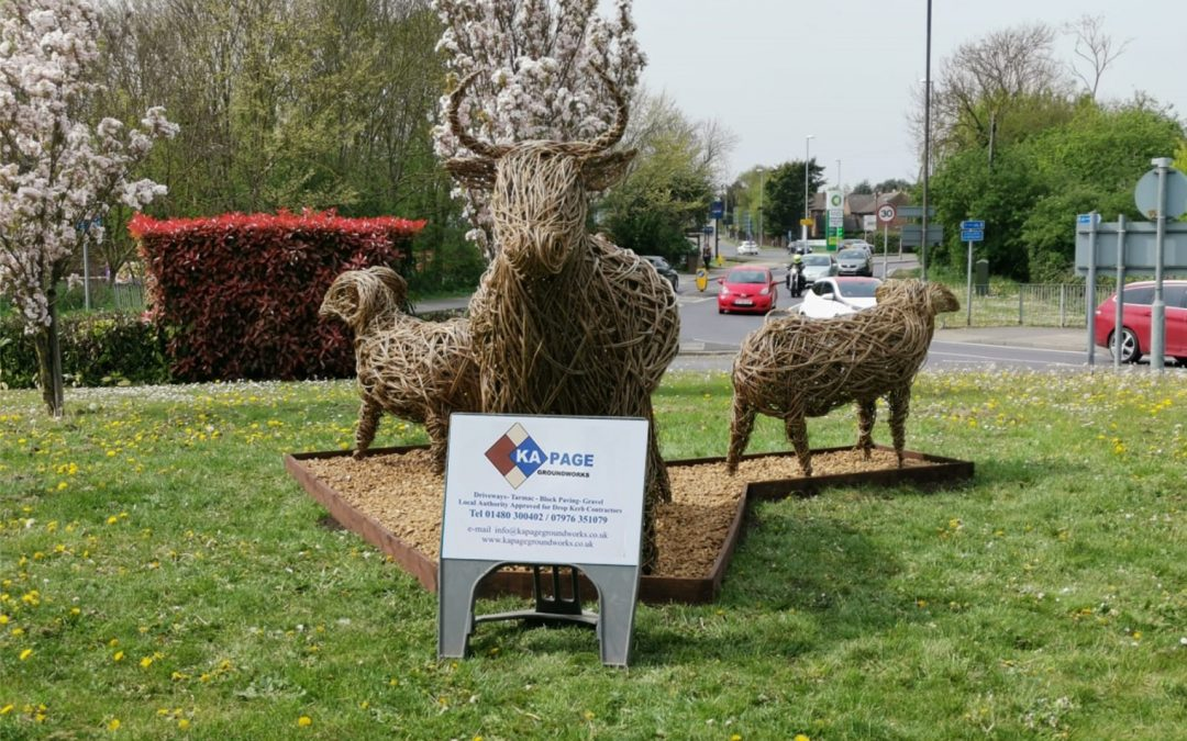 Sculptures Installed on Morrison's St Ives Roundabout for Council